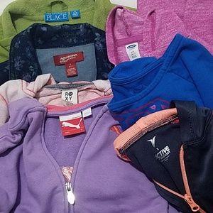 Lot of 7 Girls Jacket & Sweatshirts size Small / 6